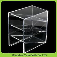 high glass slant brochure display stand document holder custom acrylic business card display holder