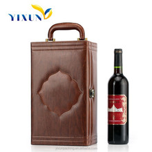 China 1 bottle single PU leather wine carrier, wine bottle diaplay case
