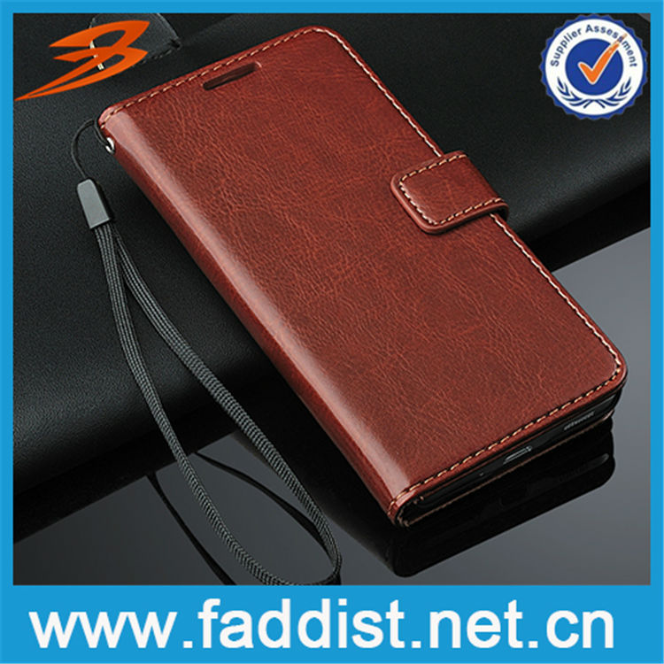 For leather wallet stand magnetic closure Samsung Galaxy Alpha phone case