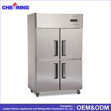 4 door stainless steel industrial upright freezer / commercial freezer refrigerator prices