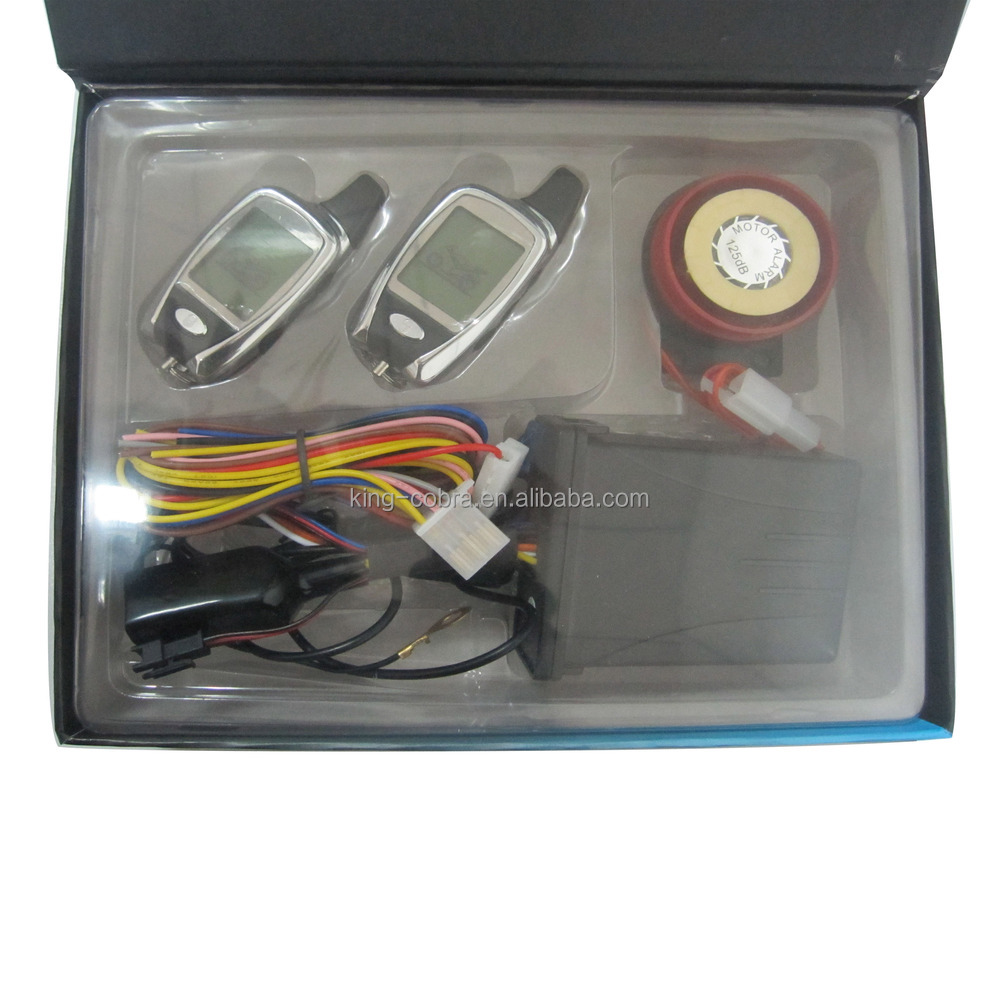 Two way FM motorcycle alarm with remote start and microwave sensor