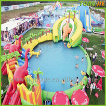 large swimming pool cartoon inflatable water amusement park of the children world