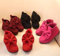 FC1581 Hot sale new style children's short boots big bowknot princess girls shoes flat boots
