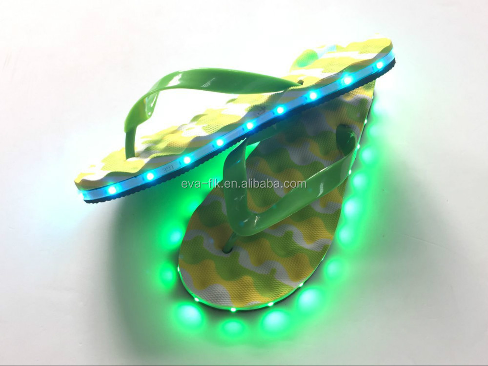 Sand And Waterproof LED Flashing Flip Flops
