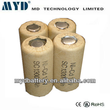 1.2v nicd sc 1300mah rechargeable battery