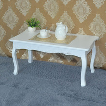 Cottage french coffee table wood side table tea table
