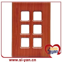 mdf frame glass door pantry cabinets