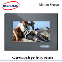 Motion Sensor Activated 7 Inch lcd video display to advertise in retail stores