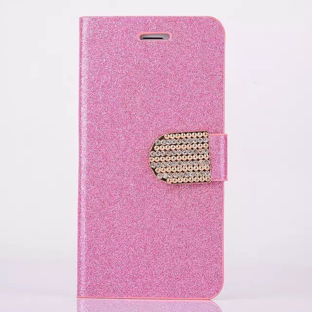 New Luxury Bling Shining Glitter Diamond Leather Flip Cover Case for iPhone 6 Wallet case