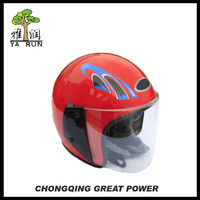Best Selling Red Half Face Motorcycle Safety Helmet