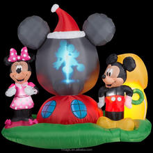 Rotating Projection Globe Christmas Inflatable