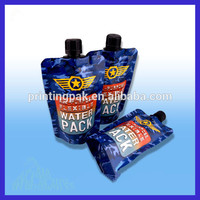 80 microns thickness custom plastic doypack bag / pouch with spray nozzle