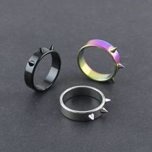 Factory spikes stainless steel ring