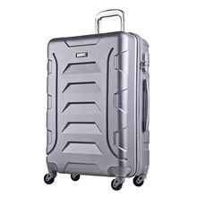Colorful plastic cover aristocrat trolley bags large luggage bag aluminum luggage
