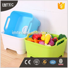 wholesale British kitchen laden fruit and vegetable cleaning bowl box Plastic mobile sink basket receive a clean drop