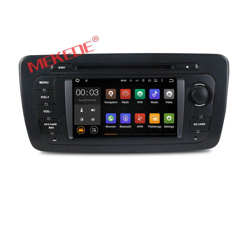 Factory price android 7.1 CAR dvd GPS navi multimedia system radio for VW Seat Ibiza 2009-2014 dvd Player BT 4G wifi free map