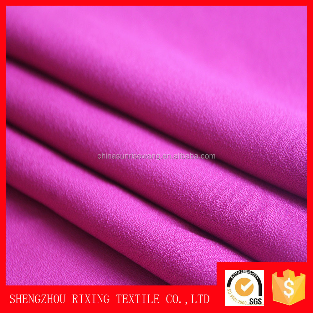 hot sale 200D polyester crepe fabric for free prom dress