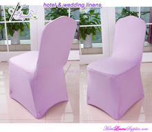 durable repeated use light pink spandex lycra wedding banquet chair cover for banquet chairs
