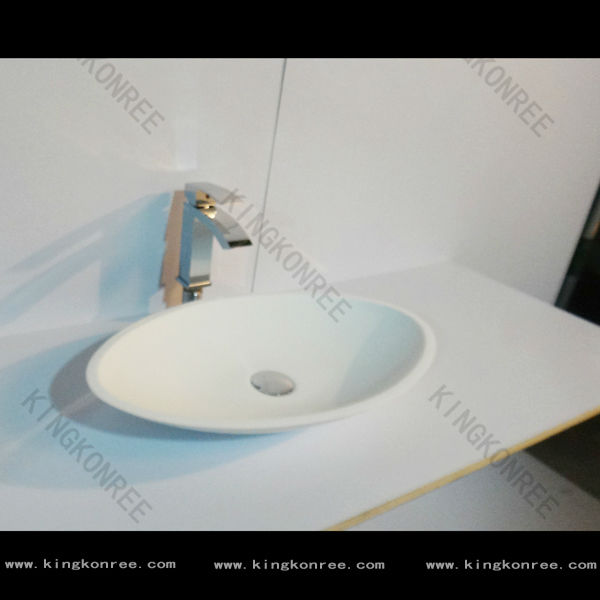 Counter top oval hand wash basin / Wholesales free standing hand washing sink / Arcylic stone wash basin