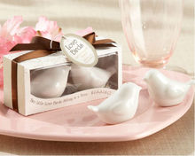"""Love Birds in the Window"" Hot Sale Ceramic Salt & Pepper Shakers for wedding favors and gifts"