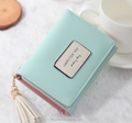 Korean colorful leather lovely wallet ladies purse