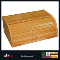 cheap price bamboo stackable bread bin