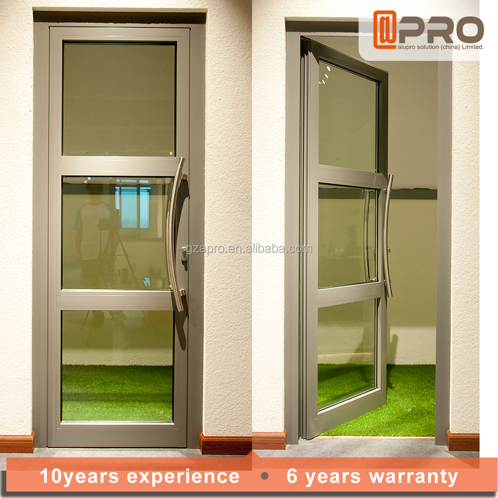 House main 24 inches exterior doors outdoor tempered glass swing door