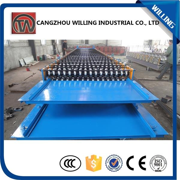 Double layers roof tiles plant making machine