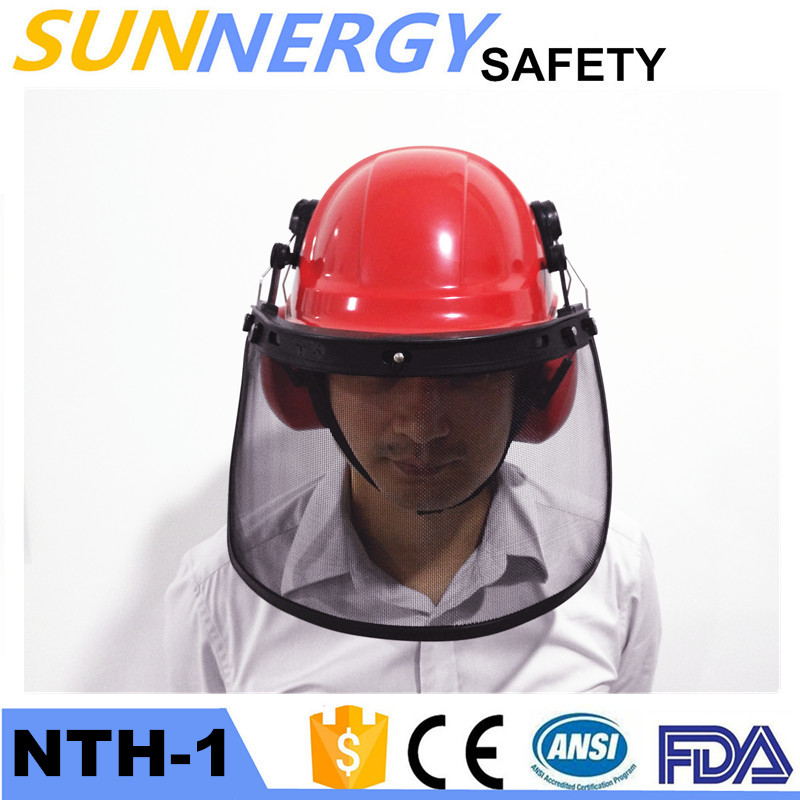 industrial safety helmet with Ear muff and Face Shield