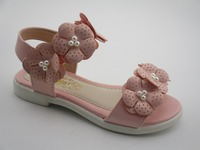 Hot selling pink daisy baby sandals for girl shoes