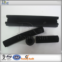 Flocking rubber seal strip with pile coating
