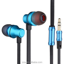 Small volume order free samples headphones made in China metal earphones braided cable mp4 headphones.