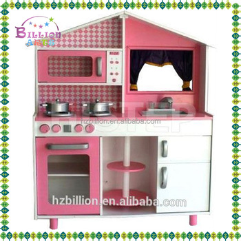 2016 wooden pretend funny kitchen playing set