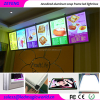 Acrylic LED advertising restaurant light up menu display light box