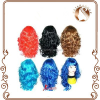 Game wig football basketball olympic wig cosplay party sports corlor false Synthetic wig