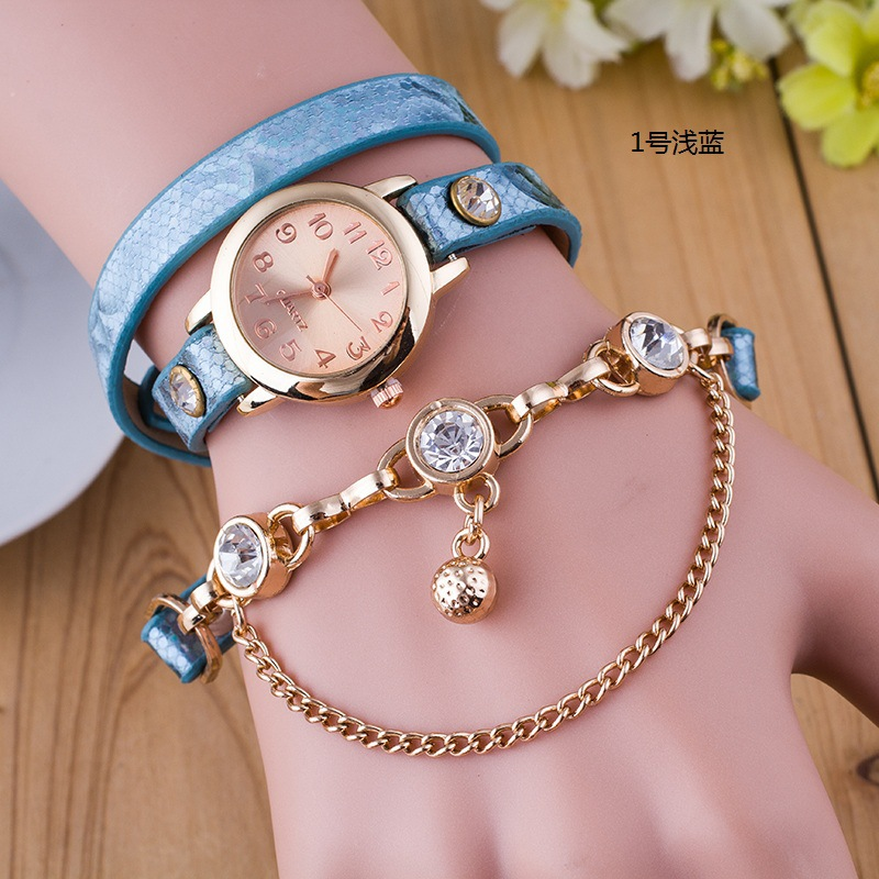 2930 Fashion Ladies Girl pearl bracelet ladies watch wrist band wrist bracelet watch