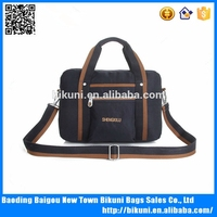 Wholesale 14 inch fashion male nylon laptop messenger briefcase tote bag