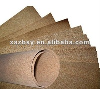 """QinBa"" best quanlity 0.8-10mm Cork roll for message board, wall covering and underlayment"