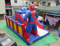 New style cartoon cheap inflatable slides for sale