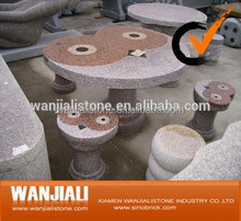 Outdoor Garden Natural Stone Granite Table /Chair/Bench With Best Price