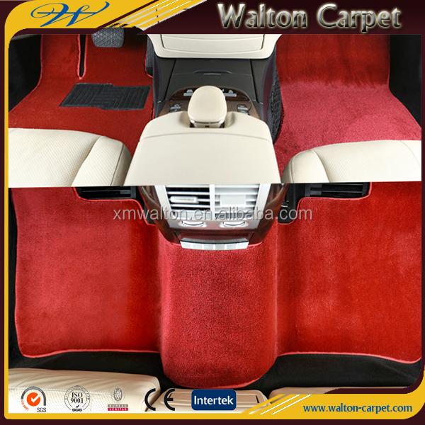 Red anti slip TPR spike backing high end tufted car mat