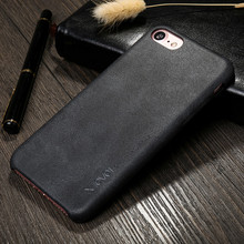 Factory Sale Custom Logo Ultra Thin Vintage Leather PU Case For Apple iPhone 7