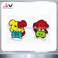 Fast delivery Soft cheap cartoon promotioal rubber fridge magnet stickers
