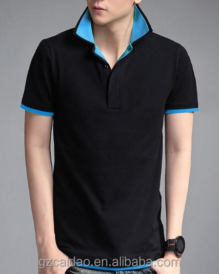 2015 short sleeves sex new design polo t shirt for men