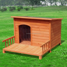 Hot sale top quality wooden dog house with porch outdoor delicate dog kennel Spacious Balcony pet dog house for help