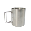 Carabiner Mug Stainless Steel Cup Hiking Camping 10oz