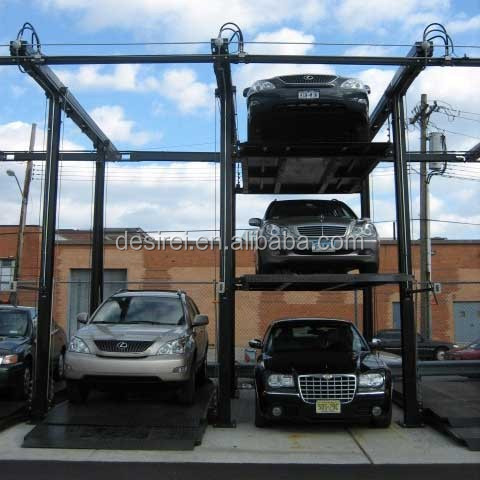 fold Smart Lift Four Post Quad Car Park Storage System