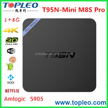 Free to Air and High Definition Internet TV set Top Box T95N Mini M8S Pro