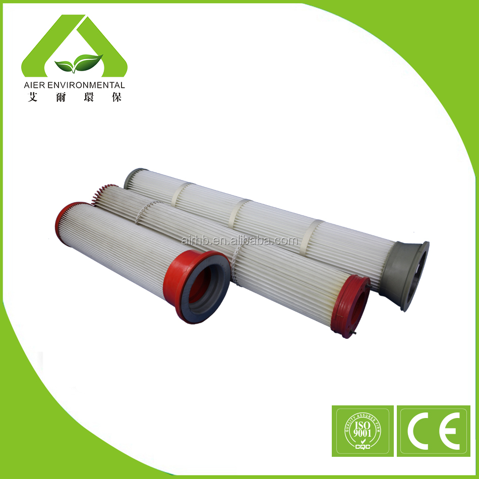 Toray polyester pleated filter cartridge for pulse jet filter