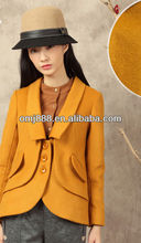 China-style classical yellow turn-over coller leisure lady's suit